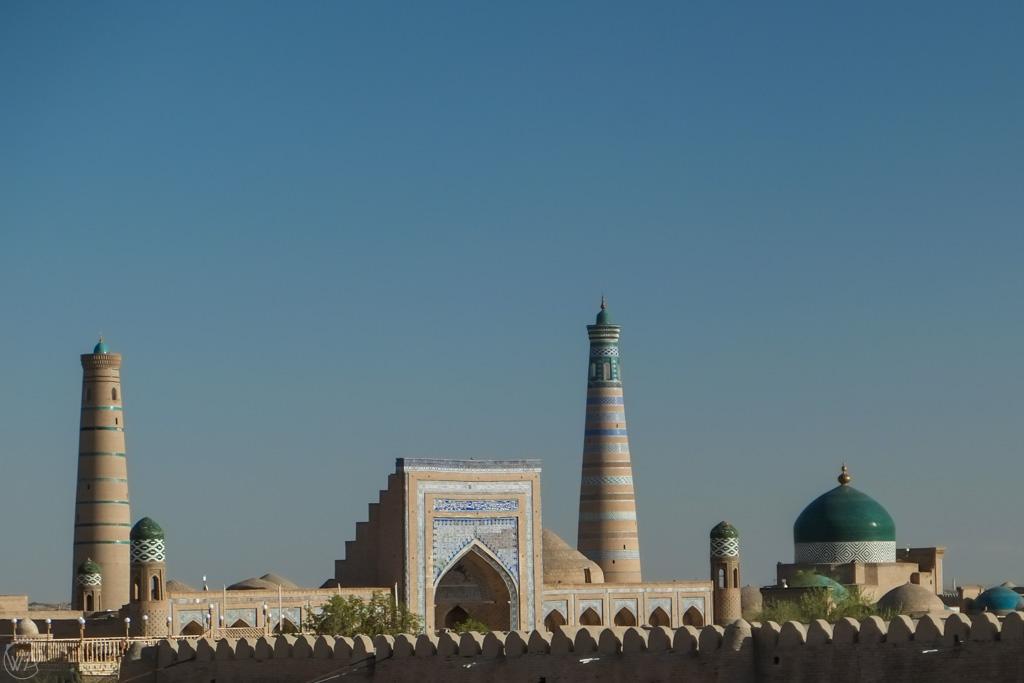 Stare Miasto Itchan Kala, Chiwa, Uzbekistan - widok z murów Chiwy