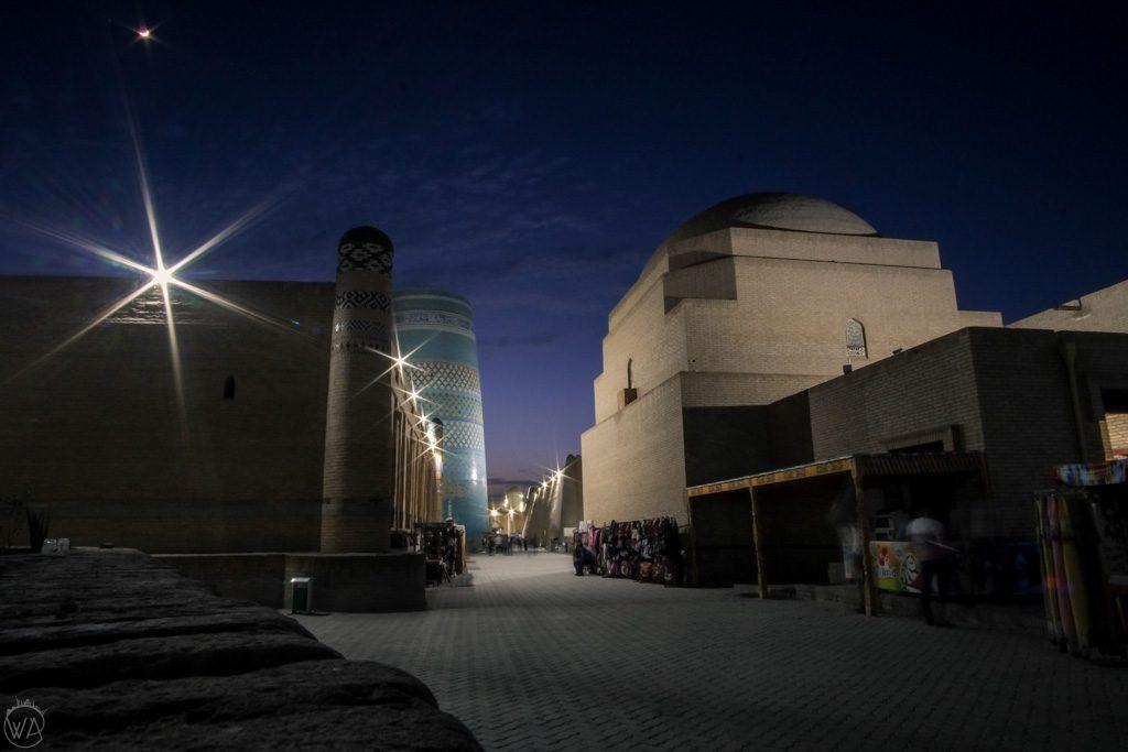 Itchan Kala at night, Khiva, Uzbekistan