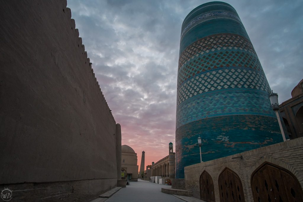 Old town in Khiva, Uzbekistan