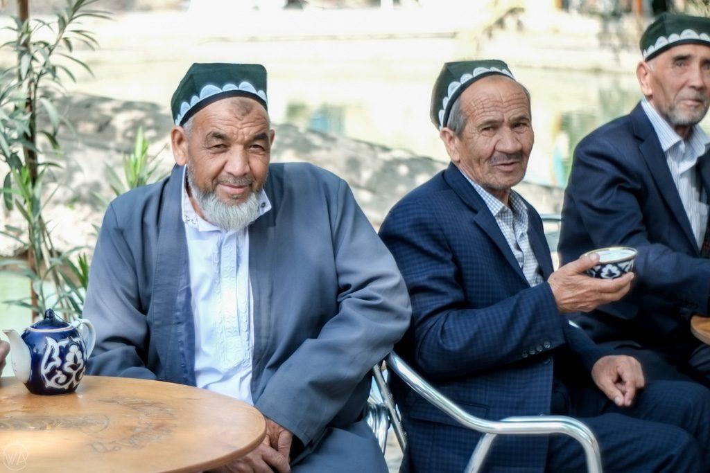 Bukhara Uzbek men drinking tea