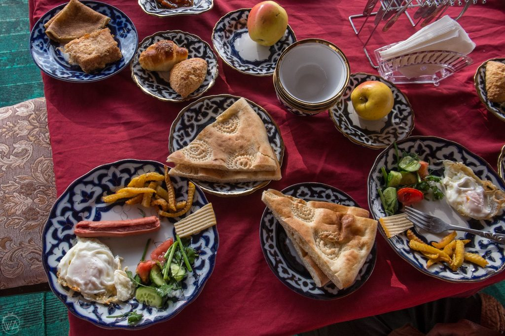 Breakfast in Uzbekistan
