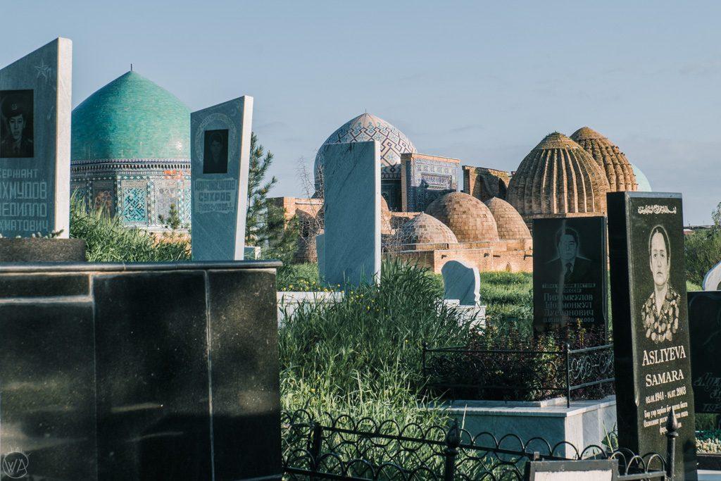 A Muslim cemetery in Samarkand, Uzbekistan