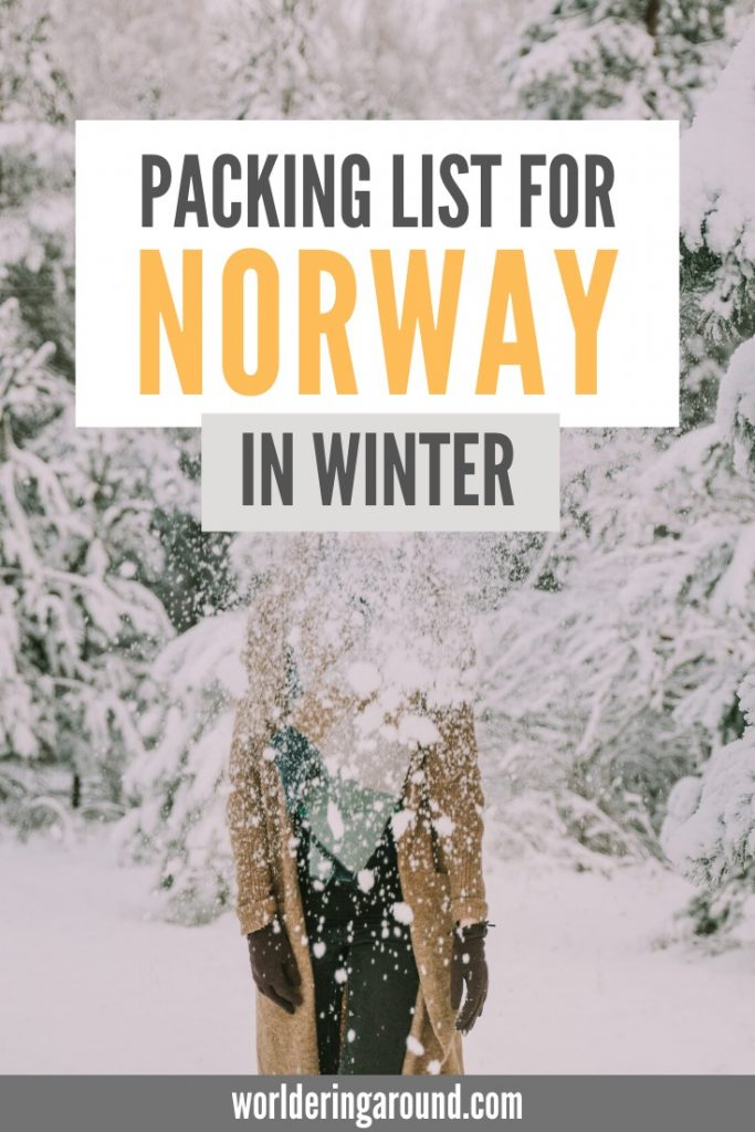 Comprehensive Norway winter packing list by the local. What to pack for Norway in winter? Warm and cute Norway winter outfits, what to wear in Norway in winter, Norway winter fashion, Norway winter travel. | Worldering around #Norway #winter #travel #outfits #fashion #packinglist
