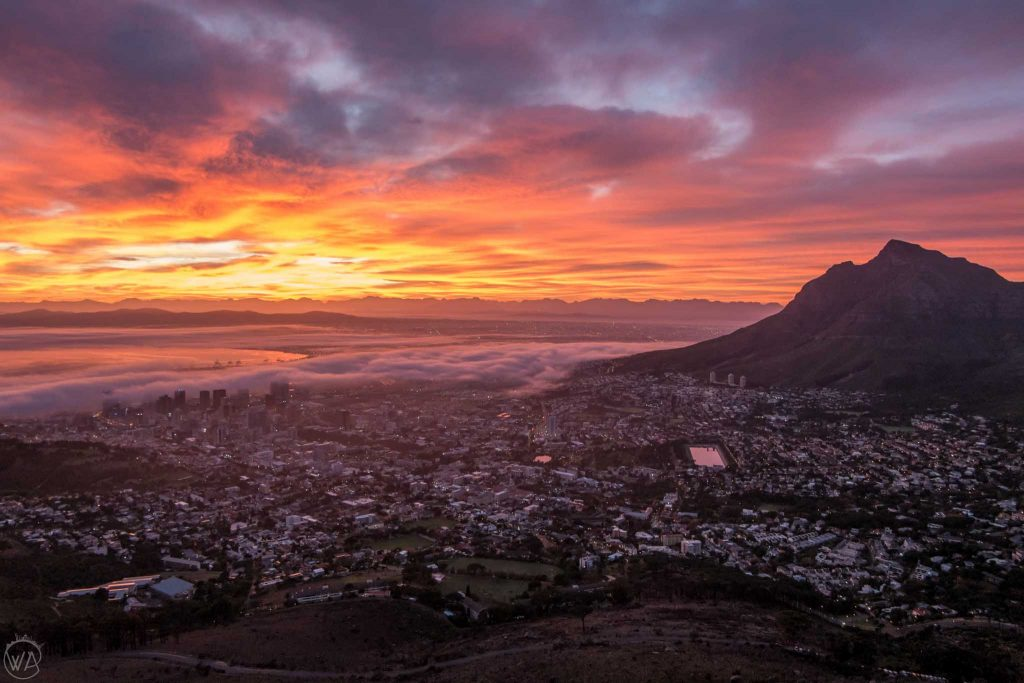 Sunrise from Lion's Head, Cape Town