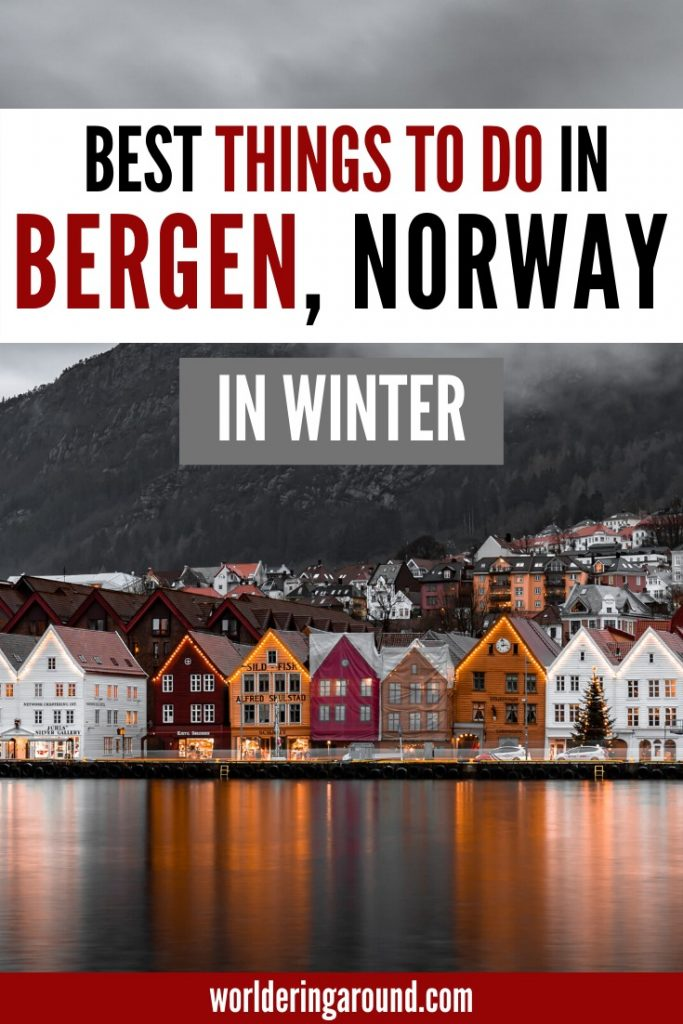 The most interesting things to do in Bergen in winter. Try some Bergen Norway Winter Travel and visit this colourful Norwegian city in winter. Explore the Bergen winter guide with Bergen winter itinerary, including Bergen winter nature and Bergen winter photography, and what to do in Bergen in the winter. #Bergen #Norway #travel #winter #Scandinavia #wintertravel #christmas