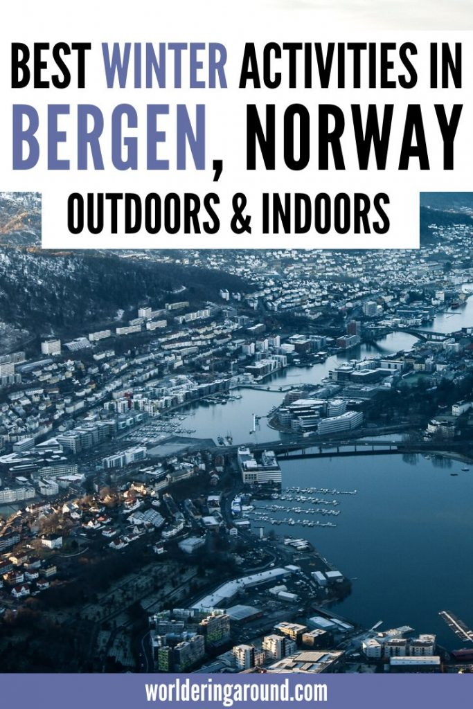 The best things to do in Bergen in winter, outdoors and indoors. Try some Bergen Norway Winter Travel and visit this colourful Norwegian city in winter. Explore the Bergen winter guide with Bergen winter itinerary, including Bergen winter nature and Bergen winter photography, and what to do in Bergen in the winter, even with bad weather. #Bergen #Norway #travel #winter #Scandinavia #wintertravel #christmas
