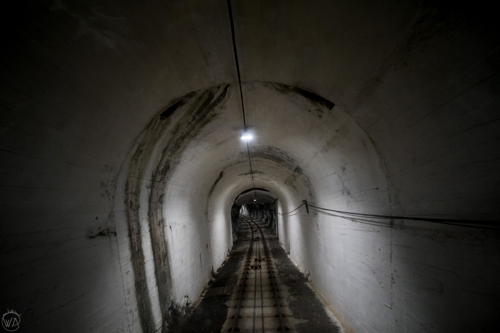 Fløibanen funicular tunnel