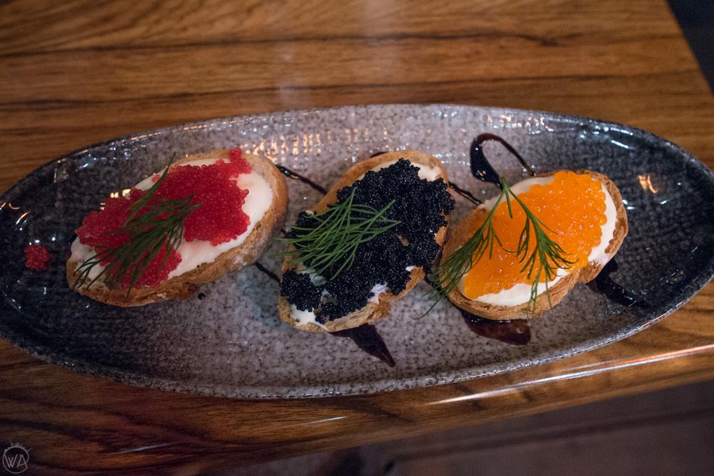 Norwegian caviar sandwiches