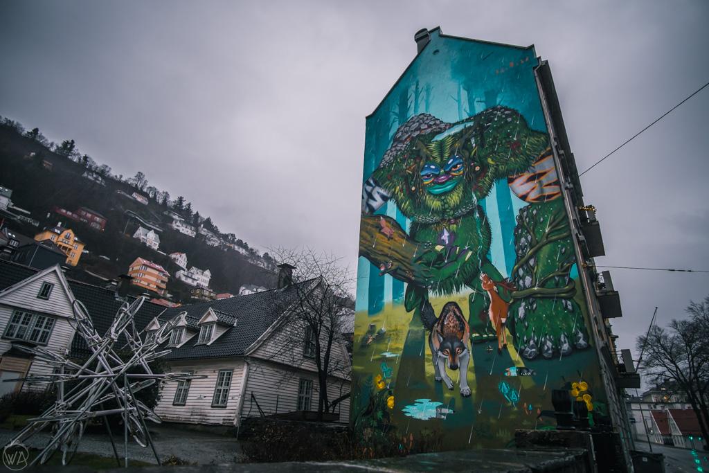 Troll mural, Bergen, Norway