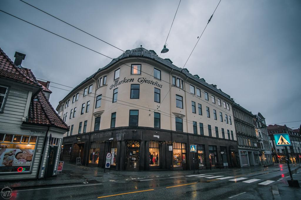 Marken Gjestehus hotel in Bergen in winter