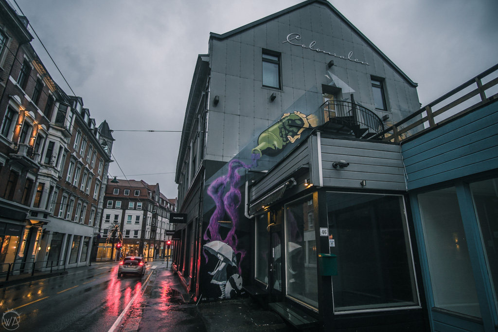 Creative street art in Bergen, Norway