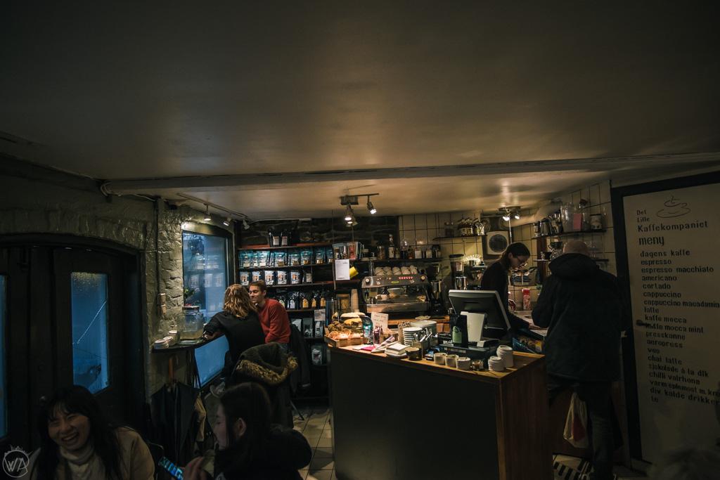 Det Lille Kaffekompaniet cafe in Bergen