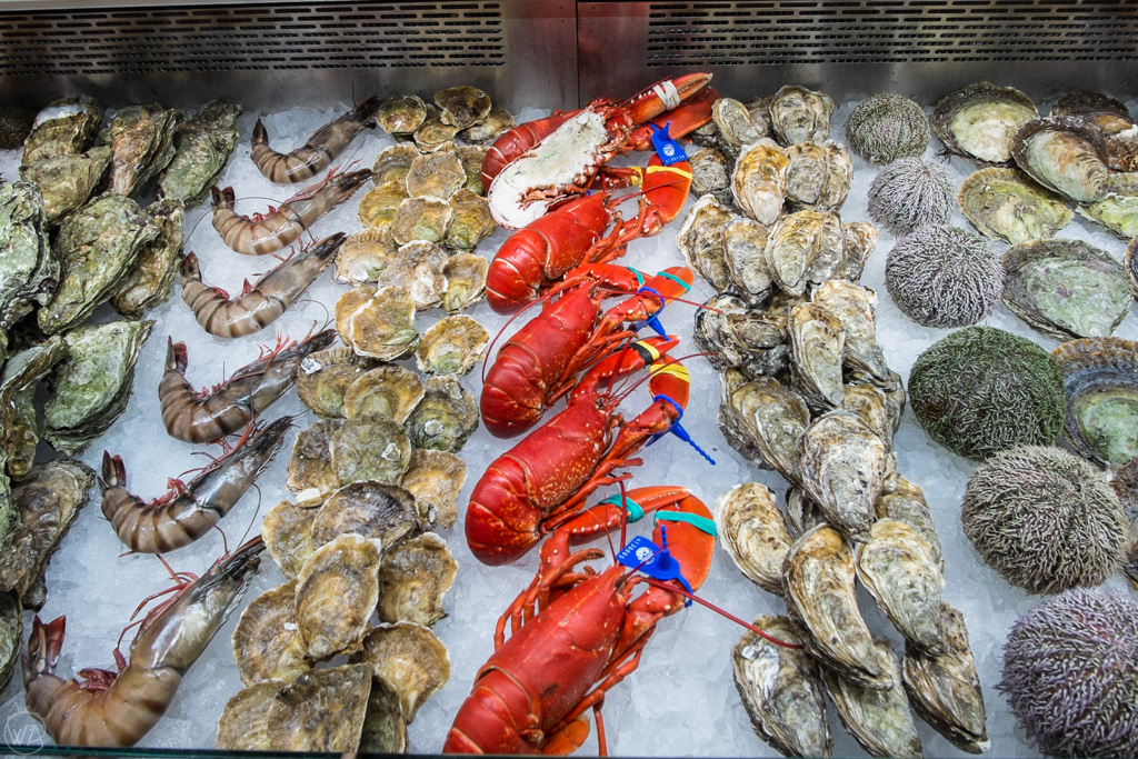 Seafood in the Bergen Fish Market, Norway