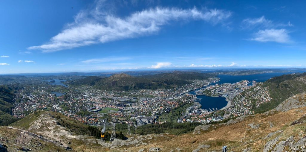 Ulriken643 cable car in Bergen, Norway