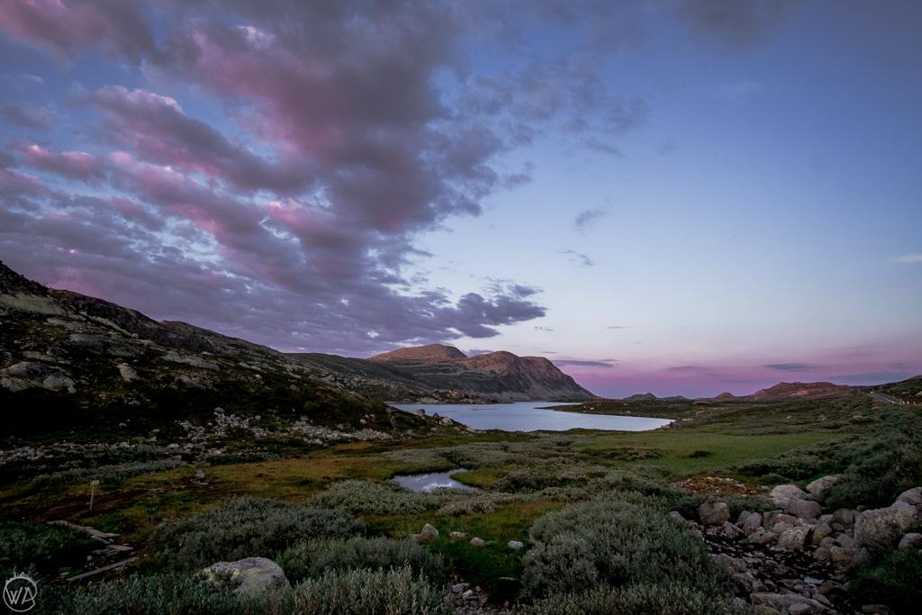 Górski krajobraz w Rjukan, Norwegia