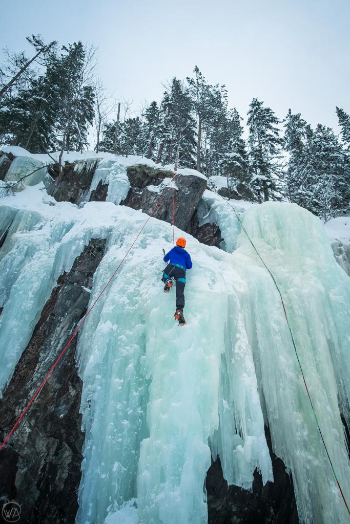 Ice climbing Rjukan, Norway