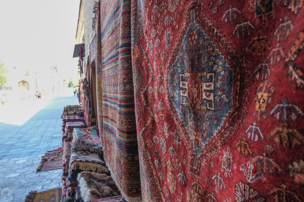Carpets in Bukhara, Uzbekistan