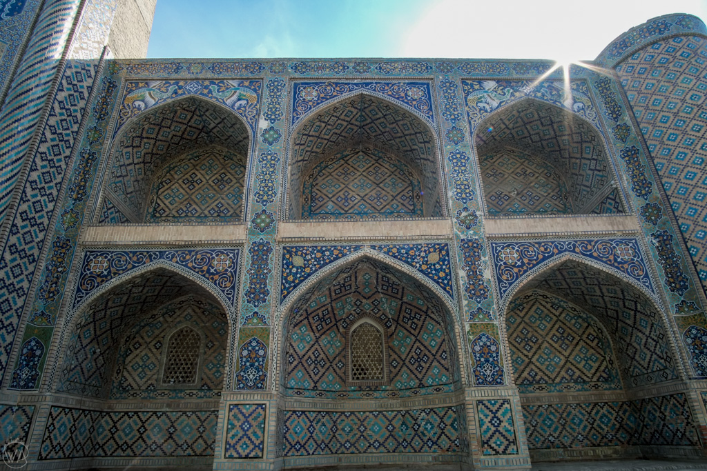 Exterior of Nadir Divan-Begi Madrasah, Bukhara, Uzbekistan