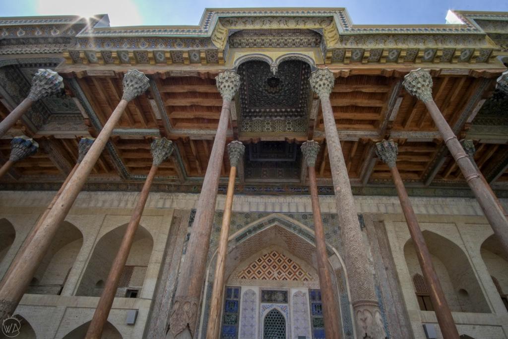 Wooden Bolo Haouz Mosque, Bukhara, Uzbekistan