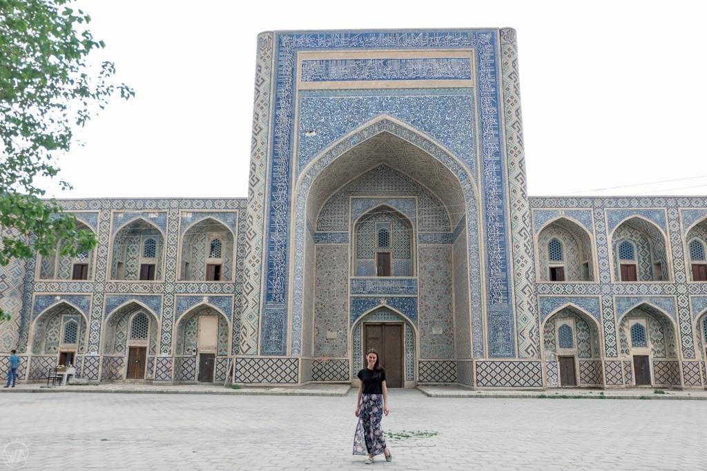 Me, in front of Madrasa, Bukhara, Uzbekistan