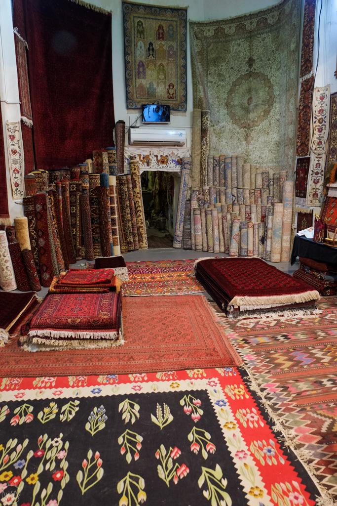 Carpet shop, Bukhara, Uzbekistan