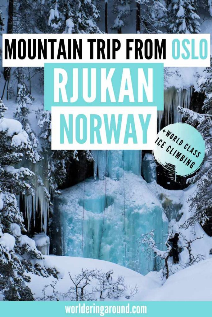 Take a day trip from Oslo to Rjukan and discover fun and outdoor things to do in Rjukan in Norway - hike to Gaustatoppen, go ice climbing, take a funicular, admire sun mirrors, learn about history and more! | Worldering Around #Norway #Rjukan #hiking #outdoors #travel #Oslo