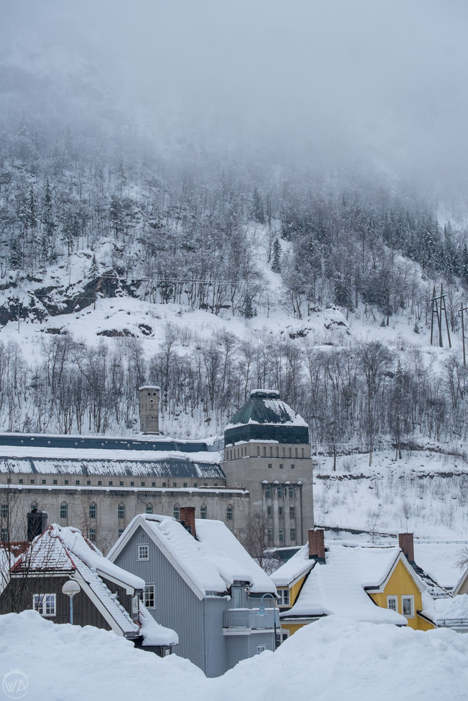 Vemork museum, Rjukan, Norway in winter