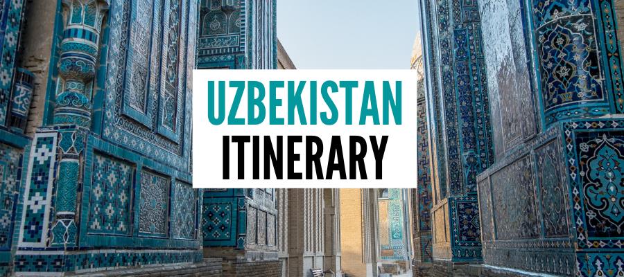 Uzbekistan itinerary cover