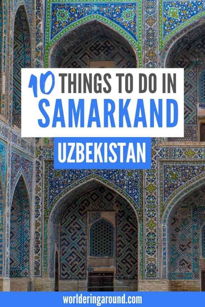 The best things to do in Samarkand, Uzbekistan. The pearl of the Silk Road in Uzbekistan. Discover Samarkand photography, Samarkand architecture, places to see in Uzbekistan, Islamic architecture in Samarkand, Uzbekistan travel guide. Must see places in Uzbekistan, Samarkand Uzbekistan Silk Road, Central Asia. #uzbekistan #centralasia #samarkand #silkroad #islamic #architecture #bucketlist #offthebeatenpath