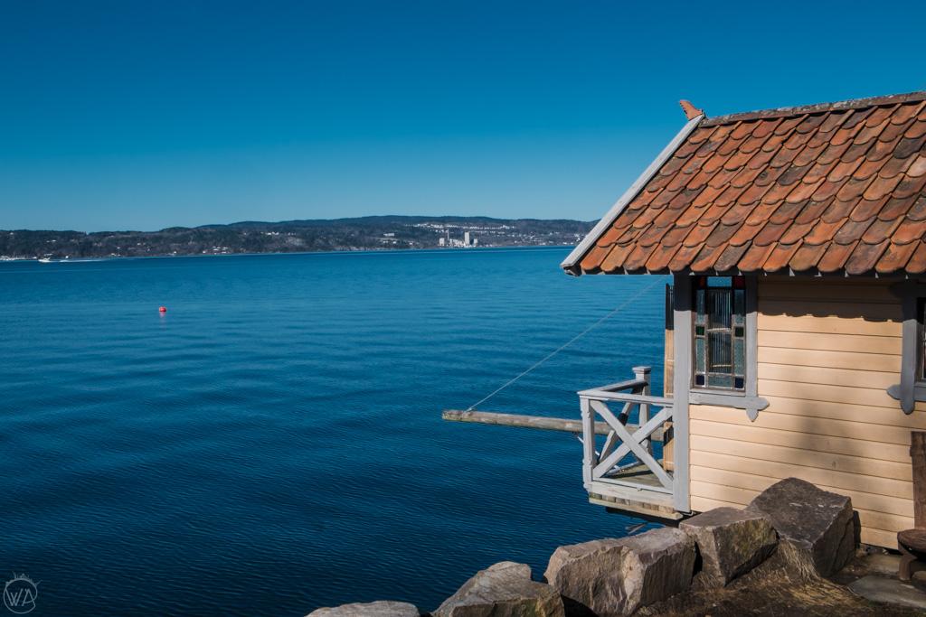 Boathouses in Nesodden, Oslo, Norway