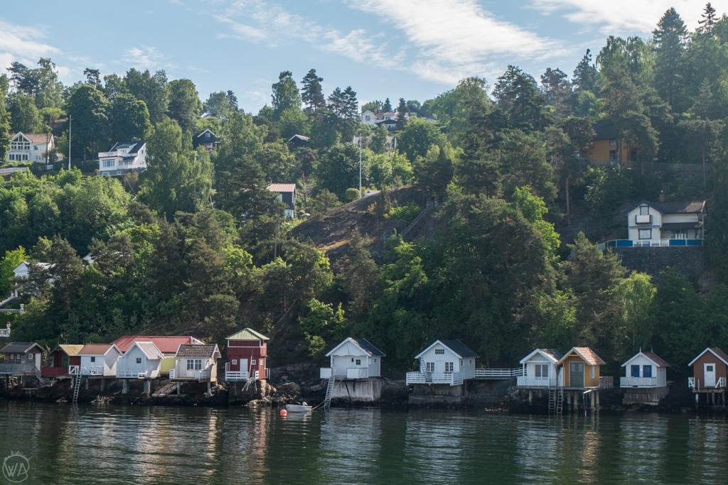 Nesodden boathouses, Oslo, Norway