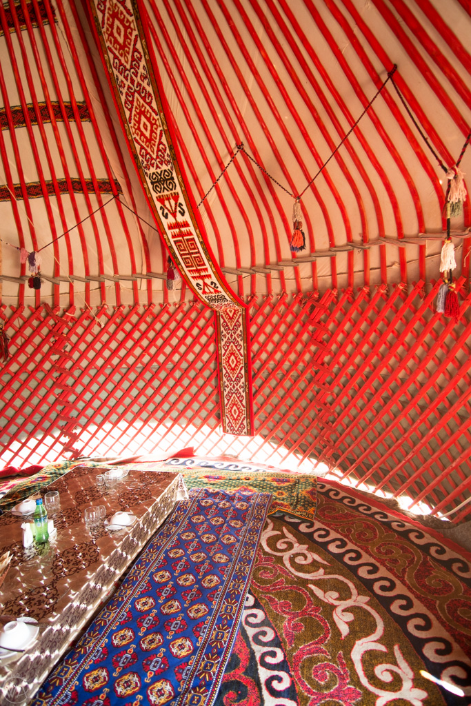 Inside of the yurt, Uzbekistan