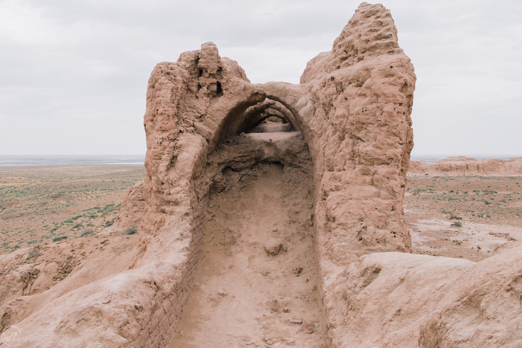 Walls of Qizil Qala (Kyzyl Kala) fortress, Uzbekistan