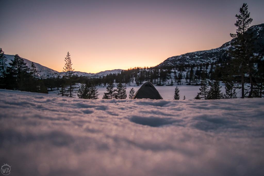 Winter camping, Norway