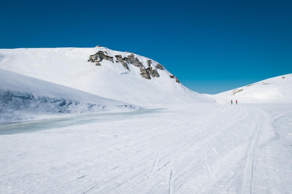 Skiing in Lifjellin winter