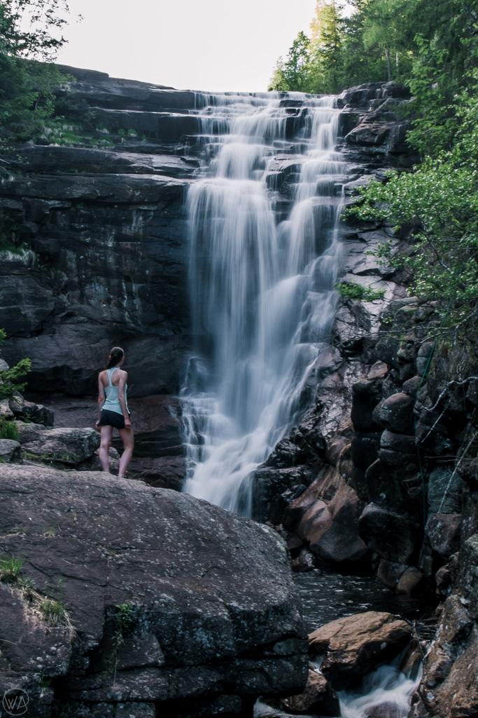 Kanada i Lier - Solbergfossen waterfall