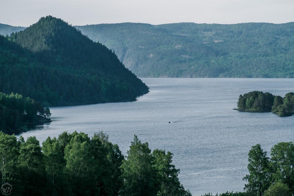 View to Tyrifjorden, near Oslo, Norway