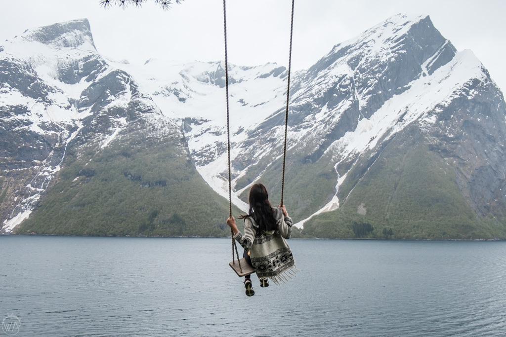 Hjørundfjord swing in Christan Gaard farm