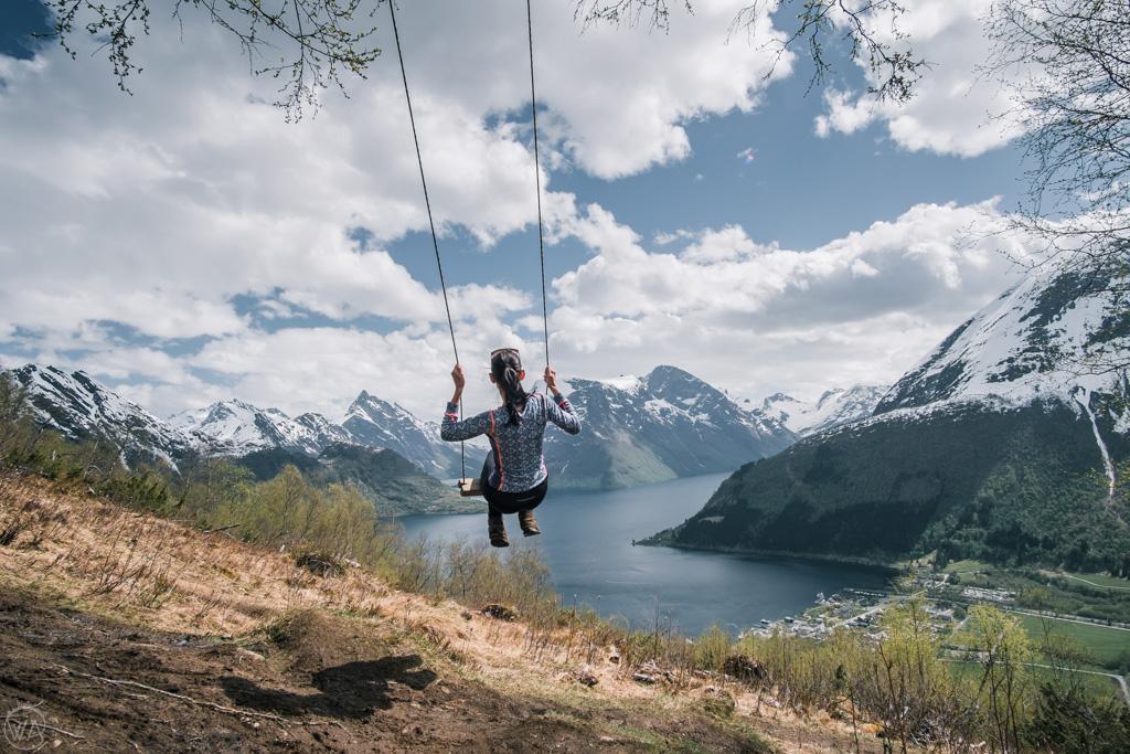Hjørundfjord swing near Sæbø