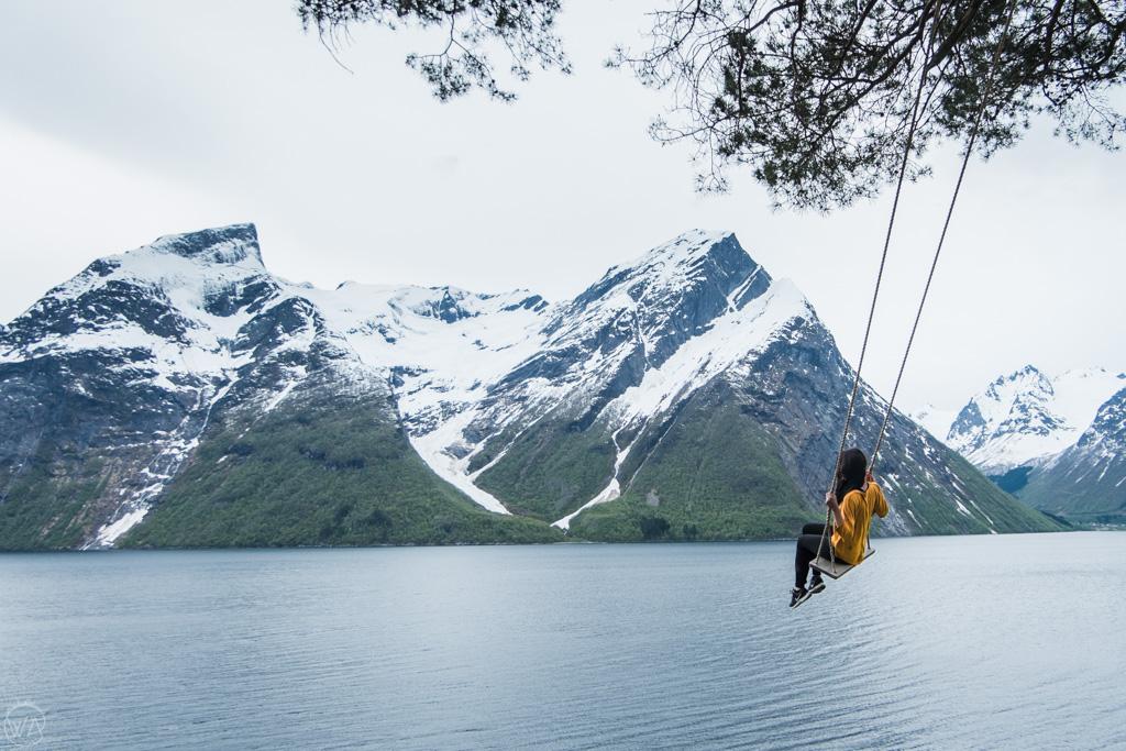 Swing in Sunnmore Alps