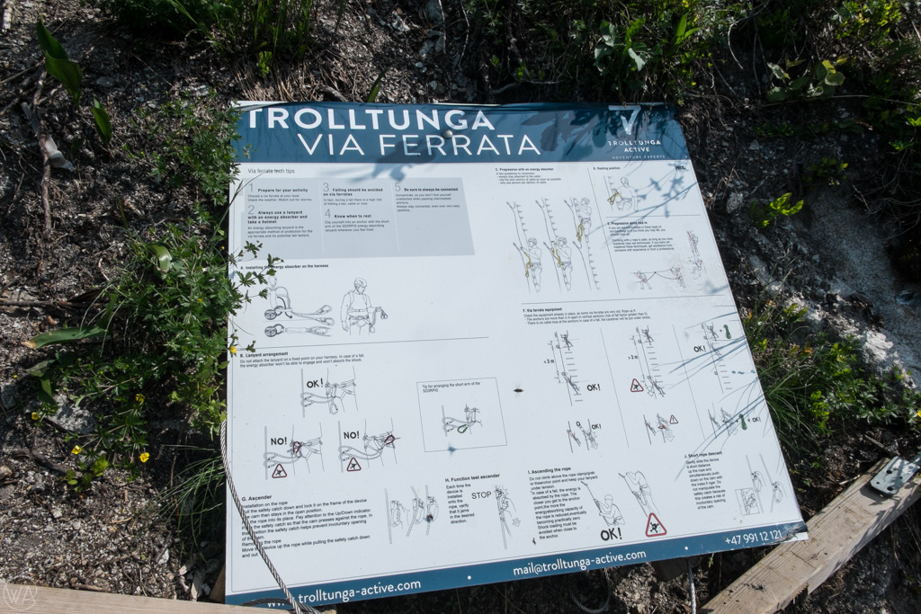 Trolltunga via Ferrata safety information