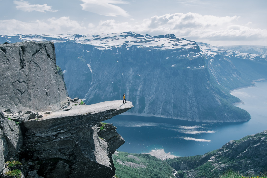 Standing on Trolltunga