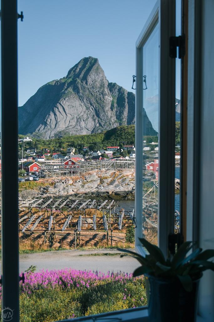 View from our hotel in Reine, Lofoten