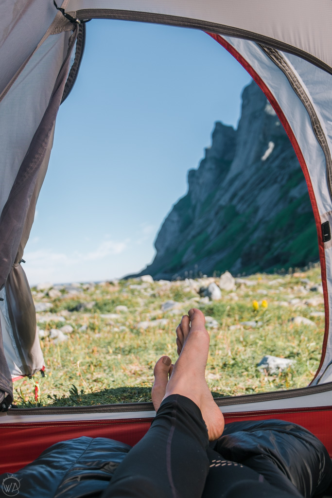 Camping on Bunes Beach, Lofoten