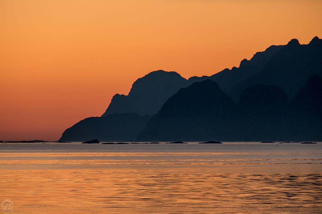 Views to Lofoten from Vaeroy