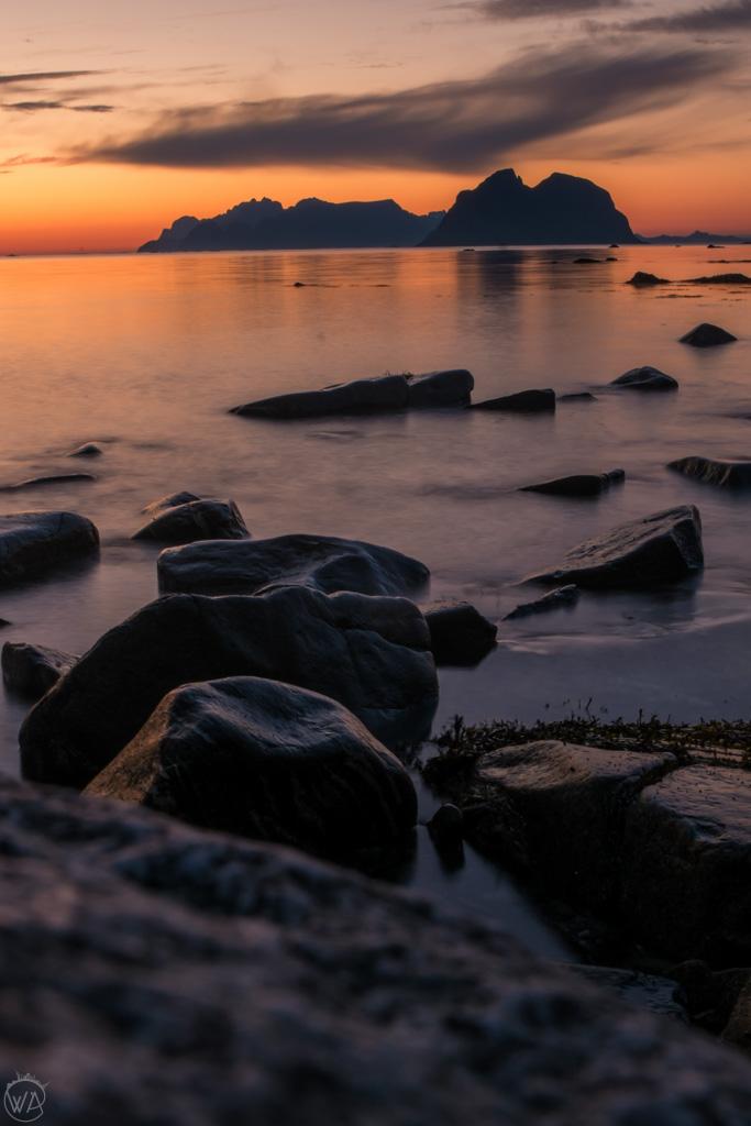 Nordlanshagen beach, Vaeroy, Lofoten, Norway