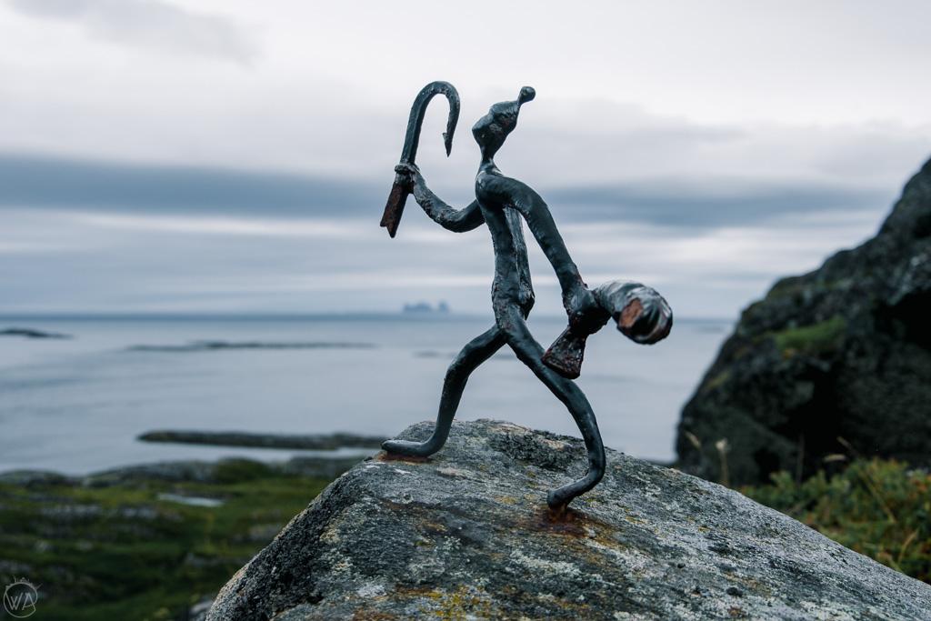 Rock sculptures, Lovund, Helgeland, Norway