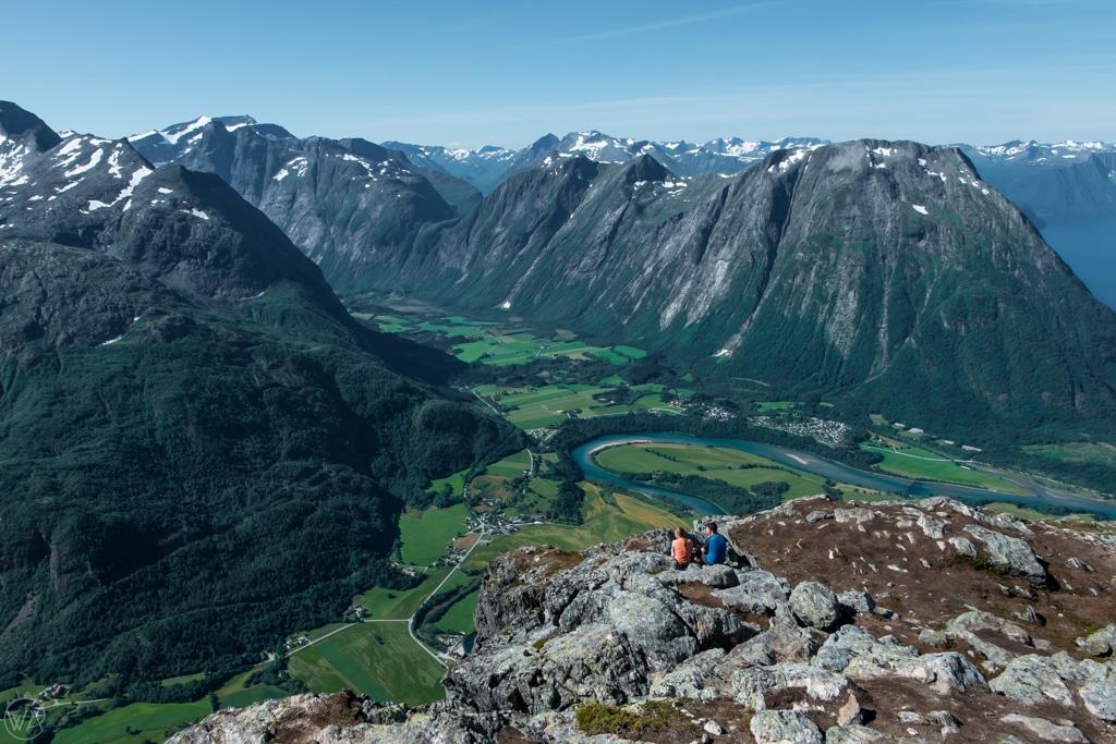 Romsdalseggen Ridge hike view