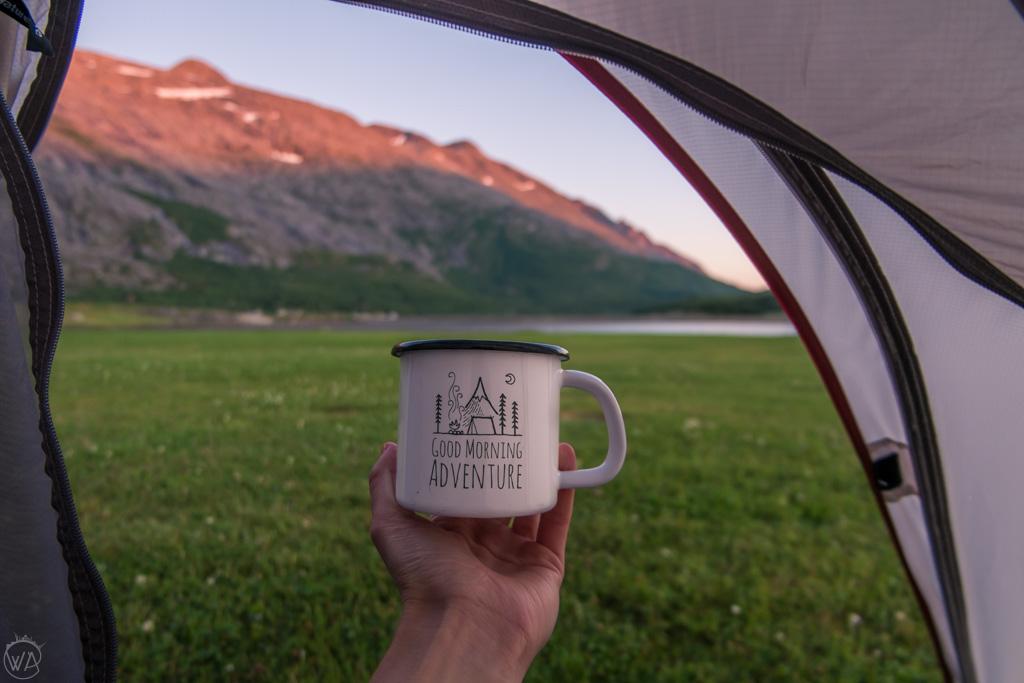 Camping in Helgeland, Norway