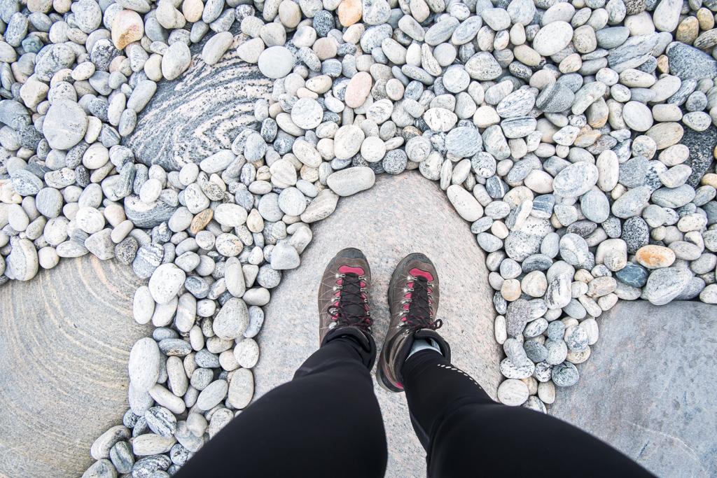 Round stones in Sørlandshagen, Vaeroy, Lofoten